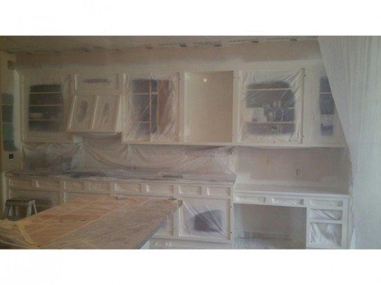 home interior painting cabinets mid production