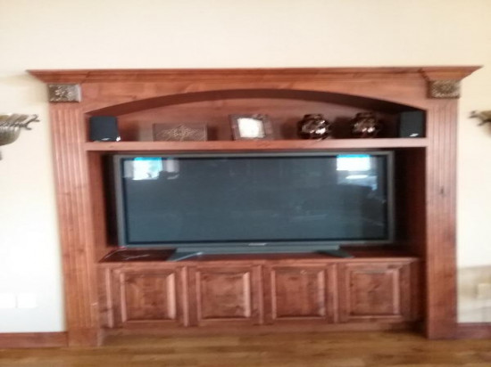 wood door restoration service mantle before