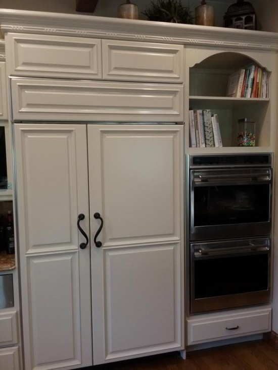 wood door restoration service fridge after