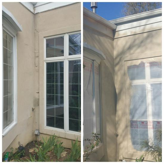 carpenter services stucco addition before after