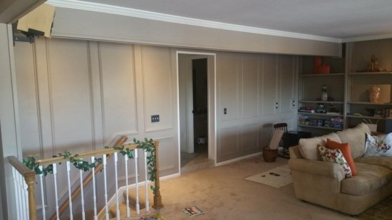 interior painting service family room after