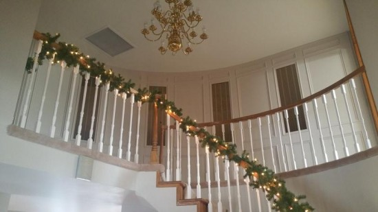 interior painting service stairs after