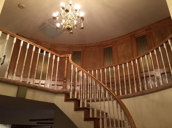 interior painting service stairs before