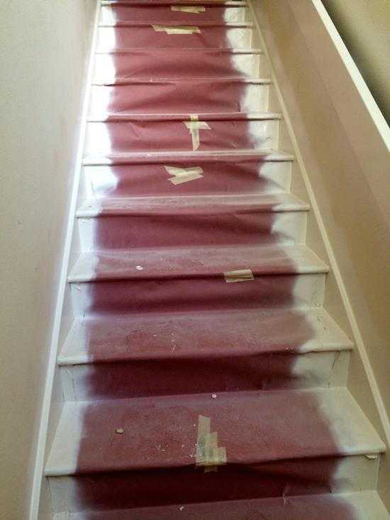 interior home painting services stairs before