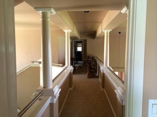 interior home painting services 2nd story hallway after