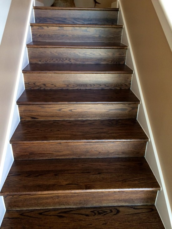 interior home painting services stairs after