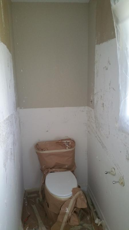 professional room painters bathroom before