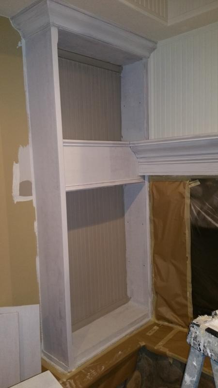 residential interior painting service fireplace mid production