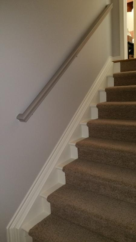 residential interior painting service stairs after