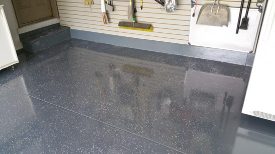 garage floor epoxy service after exposy restoration