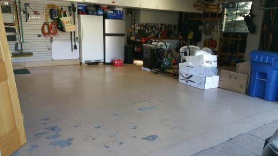 garage floor epoxy service before exposy restoration