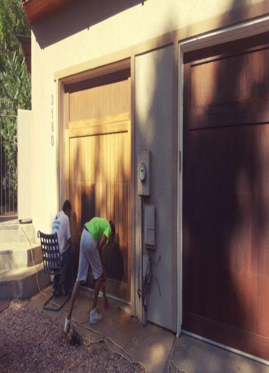 exterior painting service doors before