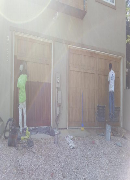 exterior painting service doors mid production