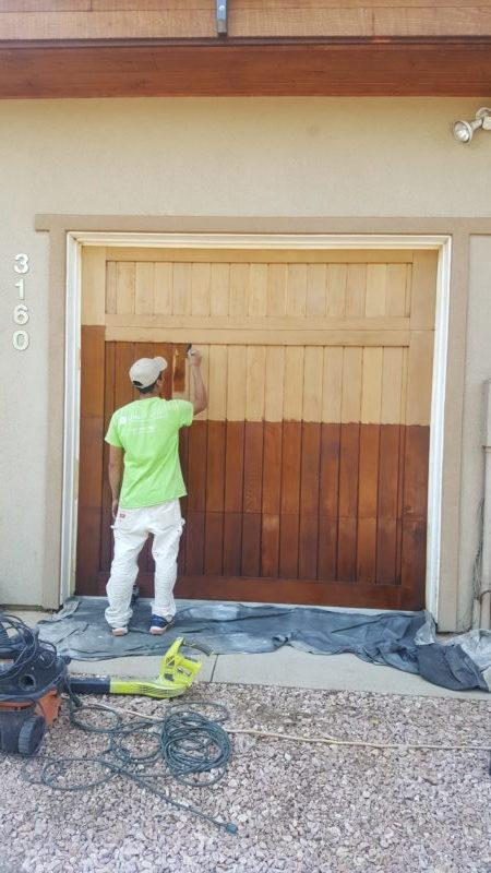 exterior painting service stain application