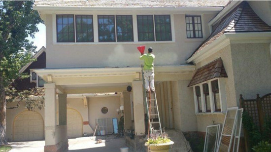 house painting services stucco mid production