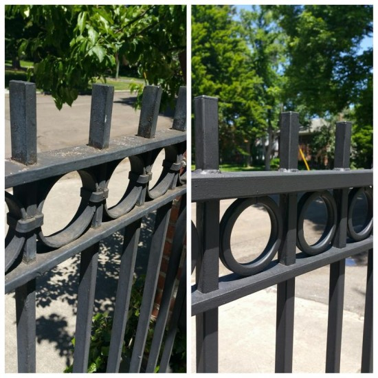 exterior house painting services side gate before after
