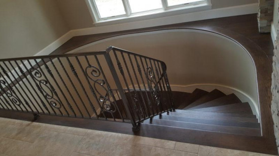 commercial painting services stairs after