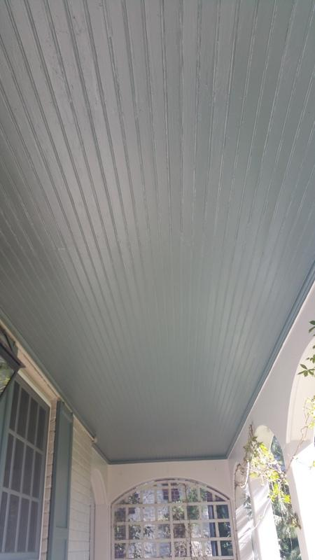 residential painting company boulder colorado porch ceiling after