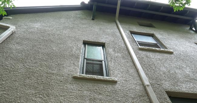 stucco windows after