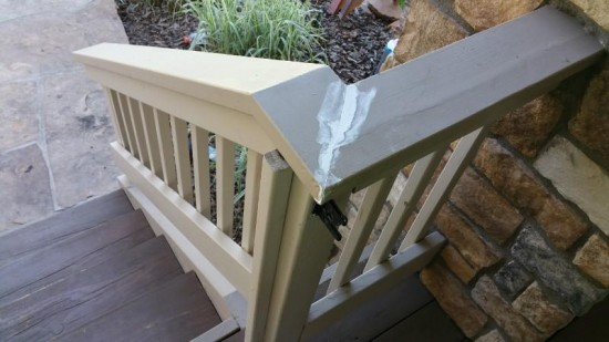 home painting services railing mid production