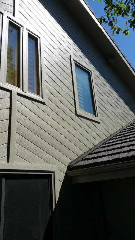 exterior painting service roofline after
