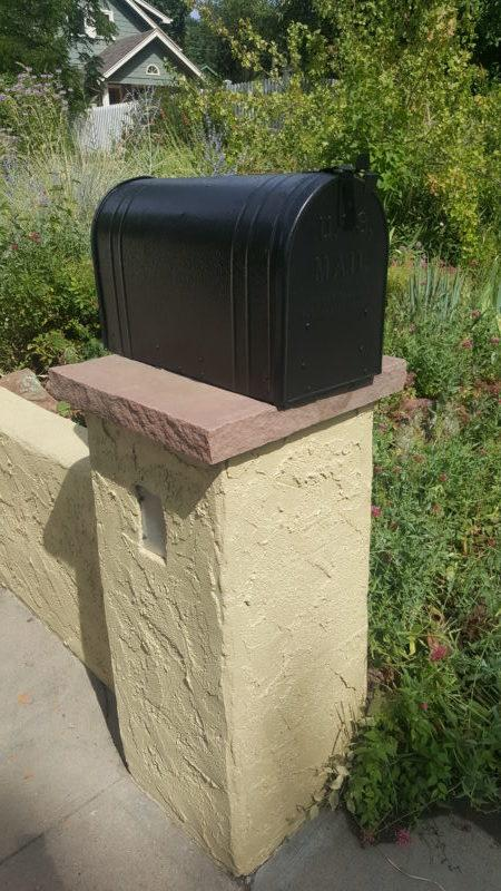 residential painting services mail box after