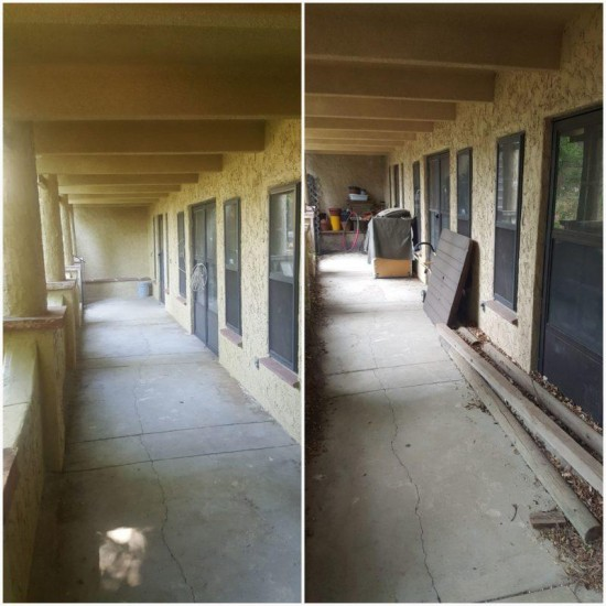 residential painting services hall before and after