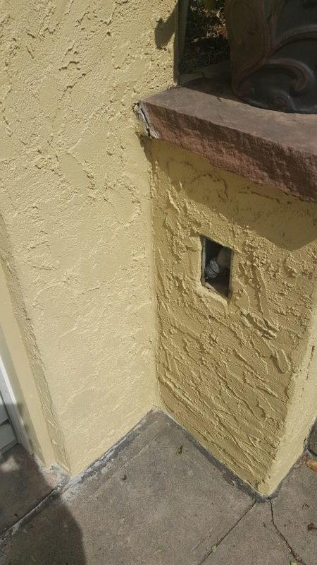 residential painting services stucco crack after