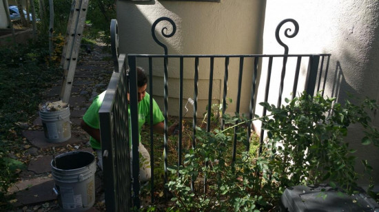 gutter repair and replacement services metal railings after