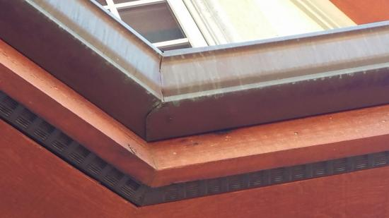 residential house painting 5 gutters before 6