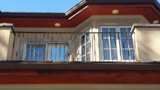 residential house painting balcony before