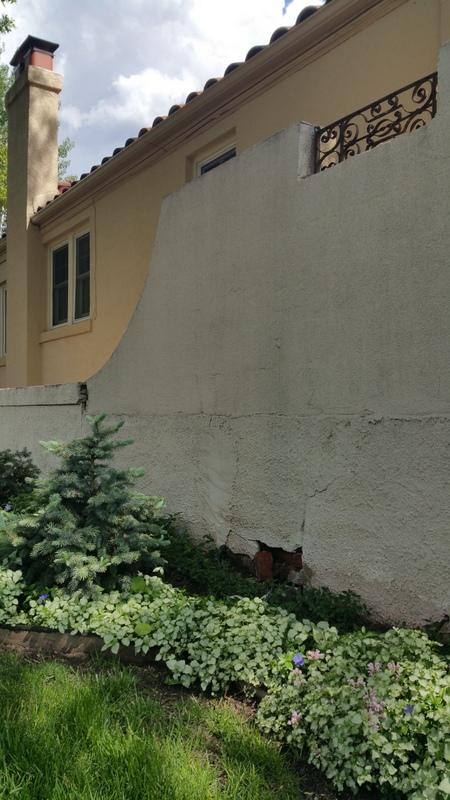 denver house painting stucco wall before