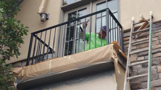 professional house painters near me balcony mid production