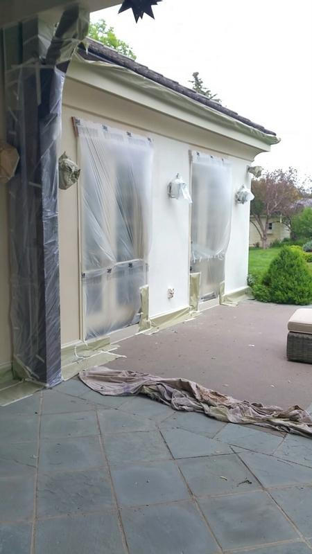 professional commercial painters stucco patches