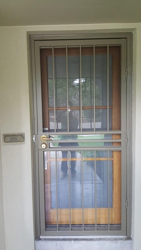 residential painting company security door after