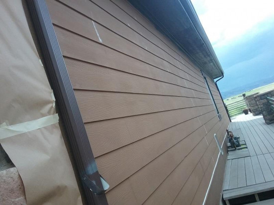commercial painting company siding before