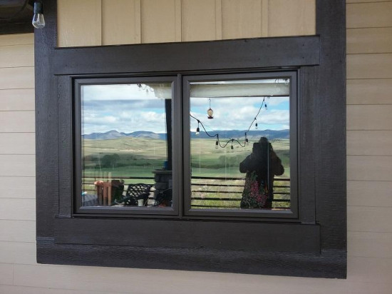 commercial painting company window after