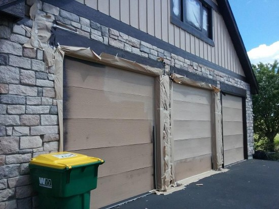 commercial painting company garage after