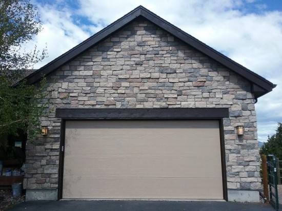 commercial painting company garage door after