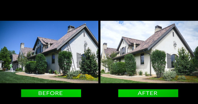 stucco trim before after