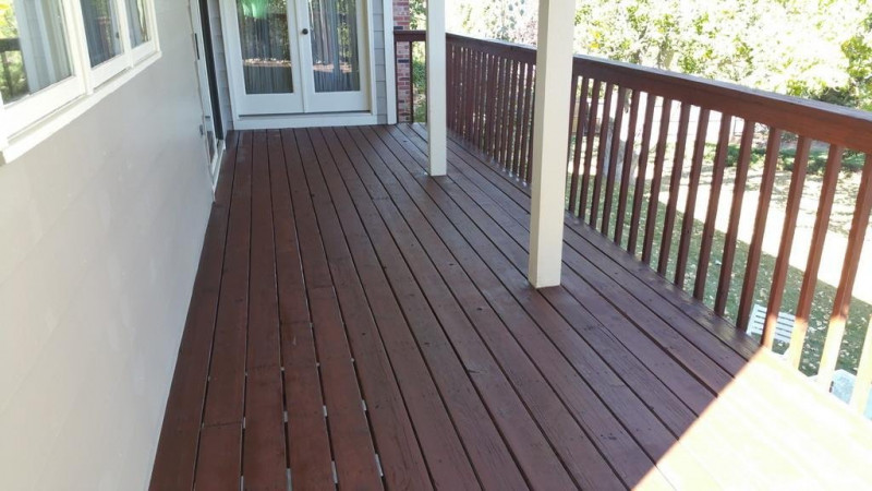 Deck Stain Restoration Project in Mesa View Estates