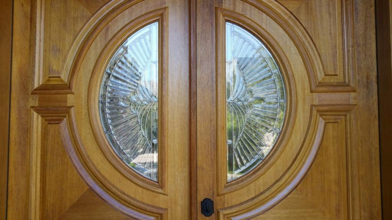 Entry Doors Restoration Project in Hyde Park at Polo Club