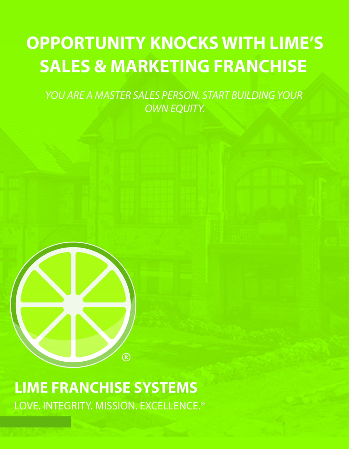 Opportunity Knocks With LIME's Sales & Marketing Franchise 3 of 3